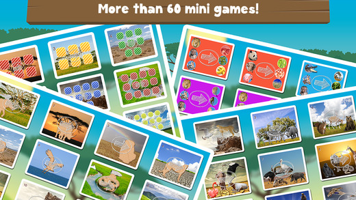 Milo`s Mini Games for Tots and Toddlers - Barn and Farm Animals Cartoon