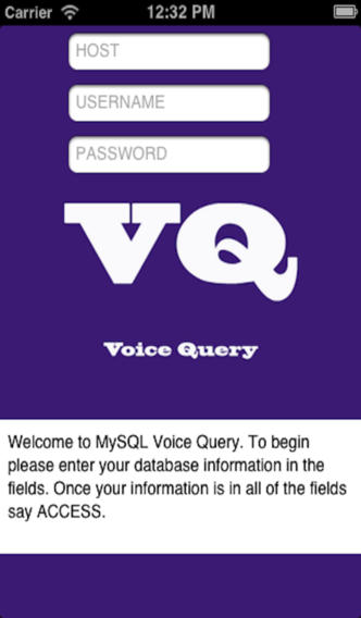 MySQL Database VoiceQuery Pro personal information database