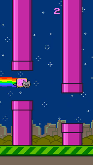 Adventures of Nyan Cat dodge journey