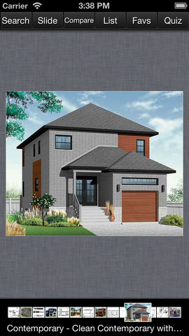 Contemporary House Design - Family Home Plans smartphone plans