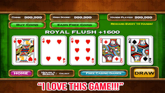 Five play draw poker play 5 video poker games at once