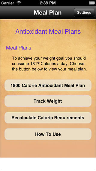 Meal Plans - Antioxidant 7 Day Meal Plans touring plans