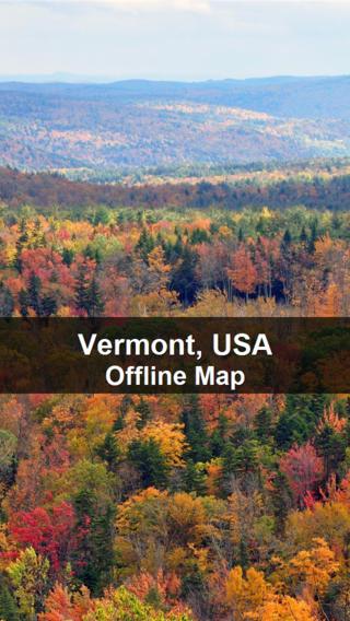 Offline Vermont, USA Map - World Offline Maps vermont map