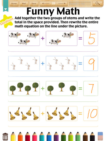Math Worksheets(Kindergarten) App for iPad - iPhone