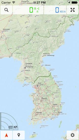 South Korea and North Korea - Offline Map & GPS Navigator north korea president