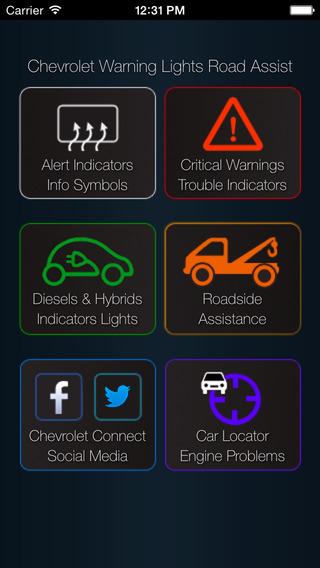 App for Chevrolet Cars - Chevrolet Warning Lights & Road Assistance - Car Locator chevrolet trax
