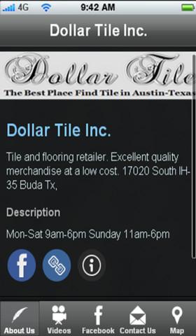 Dollar Tile Inc. artwork on tile