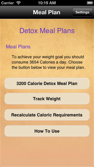 Meal Plans - Detox 7 Day Meal Plans touring plans