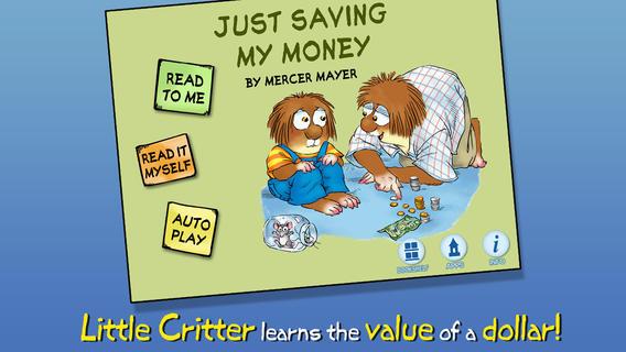 Just Saving My Money - Little Critter money saving challenge
