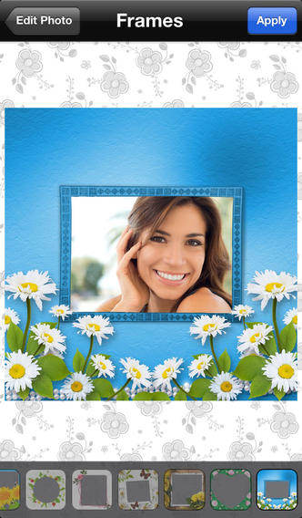 Photo Effects Flower Frame