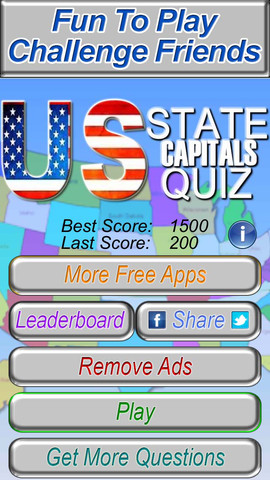 Table online game: Us state games quiz