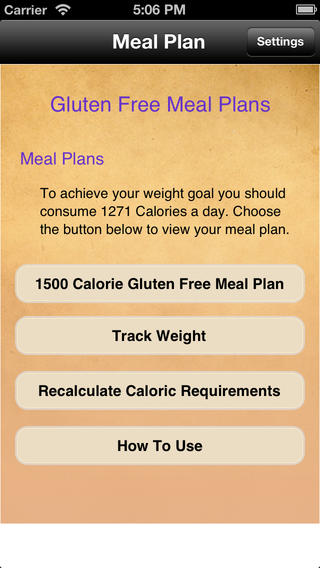 Meal Plans - Gluten Free 7 Day Meal Plans touring plans