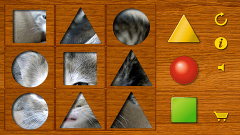 Shapes puzzle for the youngest. Training motor skills of preschoolers using attractive animal pictures or pictures of your own family! luxembourg pictures