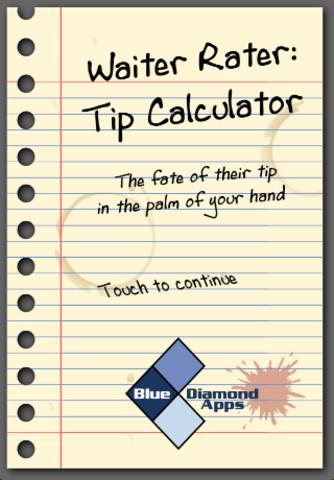 Waiter Rater: Tip Calculator