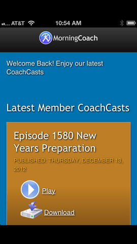 MorningCoach App
