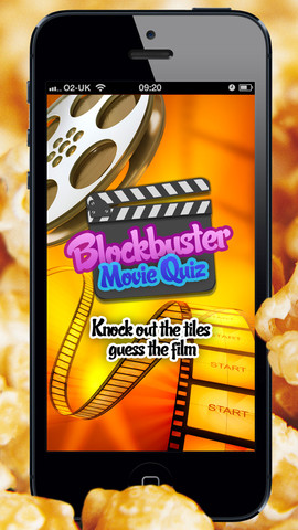 Blockbuster Movie Quiz Free - catchphrase film trivia game, reveal the image guess the film film making supplies