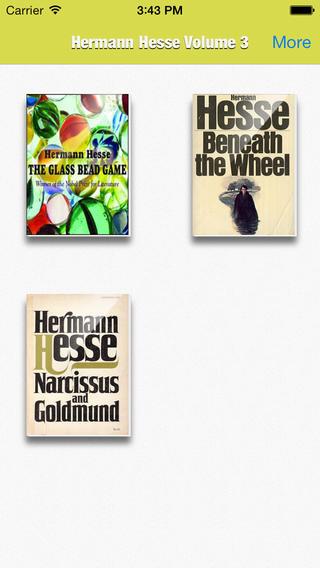 Hermann Hesse Collection Volume 1 memorial hermann careers