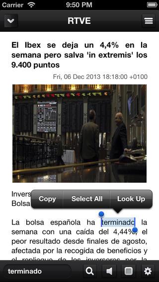 Spanish News Reading and Vocabulary news reading app