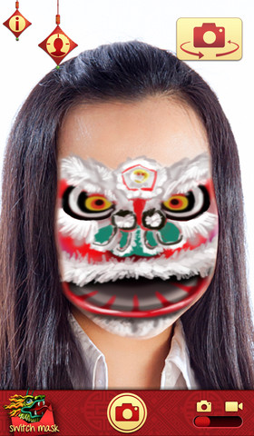 Mojo Masks Chinese New Year - Add Fun Face FX to your photos/videos and share