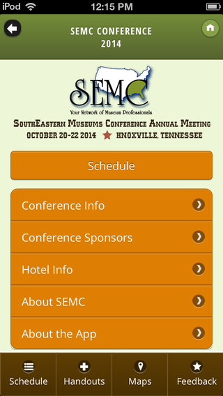 SEMC 2014 (Southeastern Museums Conference) southeastern europe map