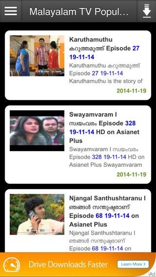 Malayalam TV Popular Programs asianet news