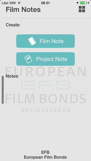 EFB Film Notes film making supplies