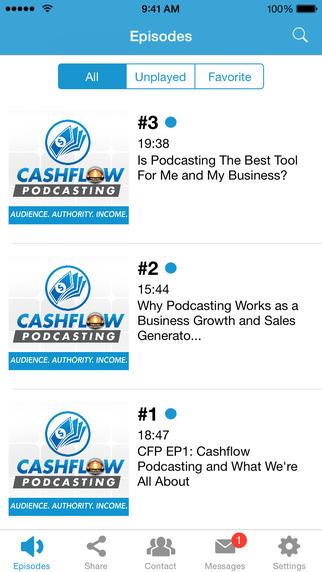 Cashflow Podcasting podcasting software