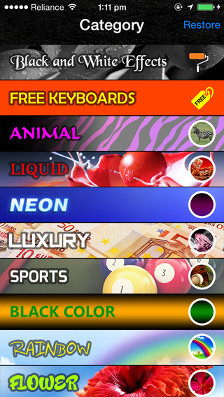 Zebra Color Keyboards HD smartphones with keyboards