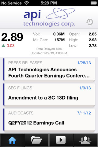 API Technologies Investor Relations gayston corp