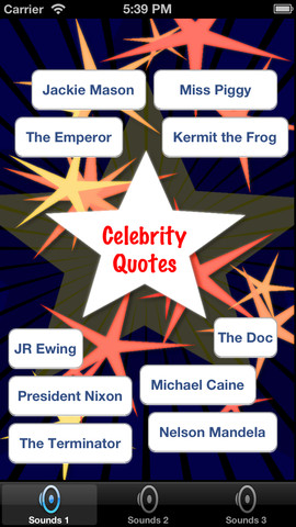 Celebrity Voices Quote Soundboard Free celebrity soundboard effects