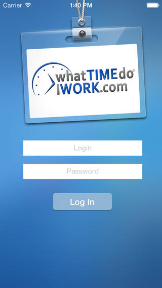 What Time Do I Work.com Employee Schedule App employee time card