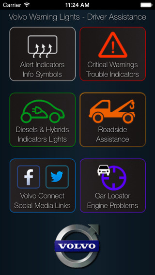 App for Volvo Cars with Volvo Warning Lights & Volvo Assistance volvo s90
