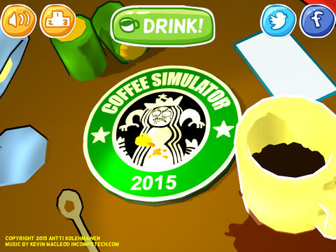 Coffee Simulator 2015 effects of drinking coffee