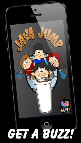 Java Jump Rush PRO – Clumsy Coffee World Office with Cartoon Boss Jerk by Uber Zany coffee junkie cartoon