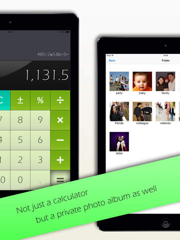Privacy Calculator HD for iPad, privacy photo, photo box privacy issues today
