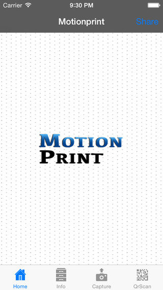 Motionprint printing from ipad