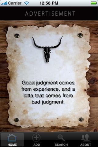Old West Wisdom