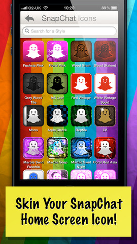 Skins for Snapchat App for iPad - iPhone - Lifestyle