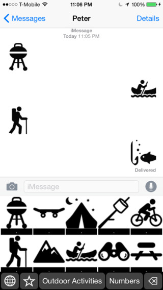Outdoor Activities Stickers Keyboard: Using Icons to Chat about Your Outdoor Hobbies outdoor activity award