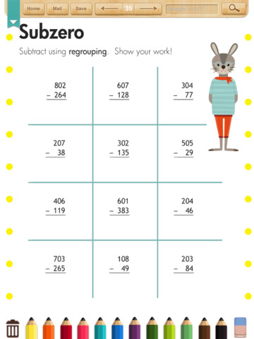 Math Worksheets(Grade 2) App for iPad - iPhone - Education