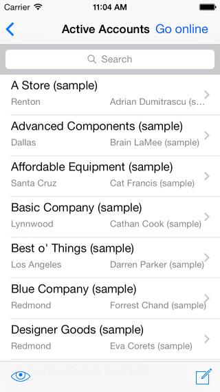 CWR Mobile CRM 5.1 for iPhone 4 (Microsoft Dynamics CRM 2011 and 2013) crm