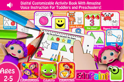 Preschool EduPaint - Free Amazing HD Paint & Learn Educational Activities for Toddlers and Preschool Children! preschool children development