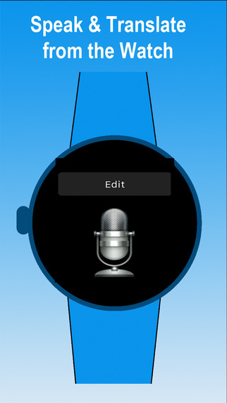 Watch Translator pro - Voice Translate to 90 languages by speaking to the Watch via dictation smartphone watch