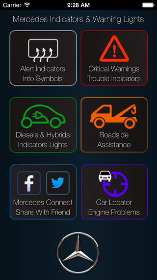Great App for Mercedes, with Mercedes Benz Indicators & Warning Lights mercedes benz m xico