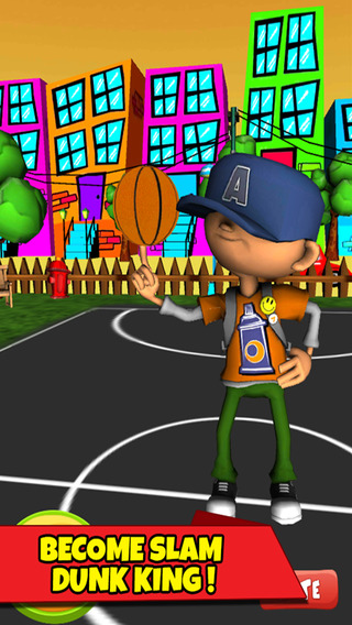Action Cartoon Street Basketball - Real Basketball Games for Kids Free basketball games online