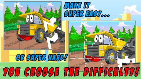 Trucks JigSaw Puzzle - Fun Animated Puzzles for Kids with Truck and ...