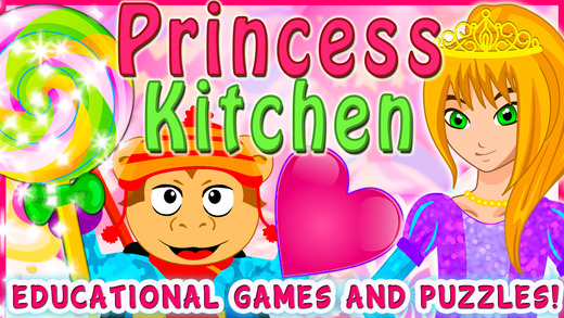 Valentine`s Princess Candy Kitchen Deluxe - Educational Games for kids & Toddlers to teach Counting Numbers, Colors, Alphabet and Shapes! preschool children s sermons