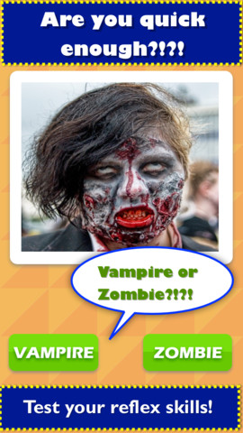 TicToc Pic: Zombie or Vampire Reflex Test Game