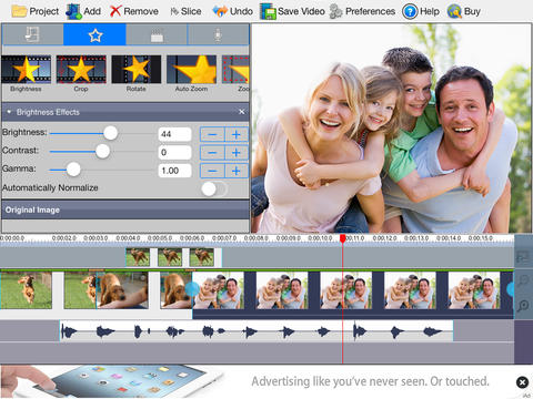 VideoPad Free Video Editor video editing