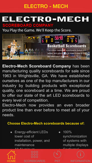 Electro-Mech Scoreboard App scoreboards for sale